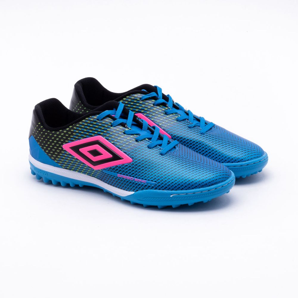 220f57273 Chuteira Society Umbro Speed Sonic Azul Azul - Gaston - Paqueta Esportes