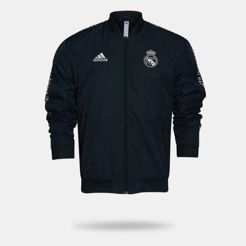 7ad0f216ac Jaqueta Adidas Real Madrid Hino 2018/2019 Preta Masculina