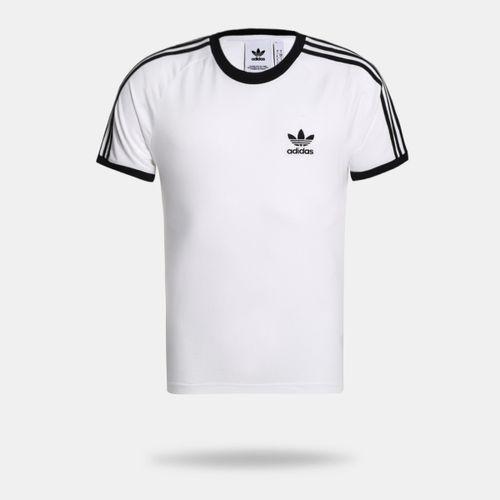 bc46b95c528 Camiseta Adidas 3 Stripes Branca Masculina