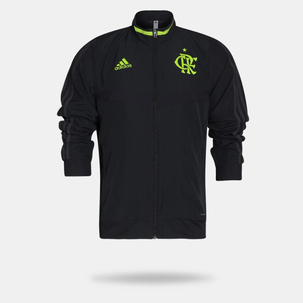 3e13eefb4c Jaqueta Adidas Flamengo 2019 Pré-Jogo Carbono Masculina Carbono ...