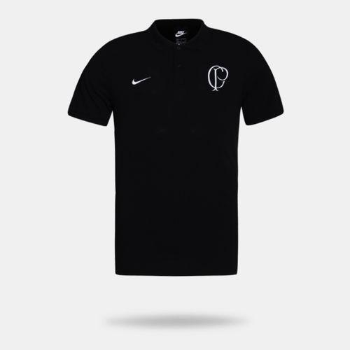 58a30c242 Camisa Polo Nike Corinthians 2019 NSW Preta Masculina