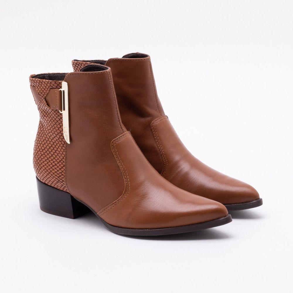 c419f830c5 Ankle Boot Bottero Couro Caramelo Caramelo - Gaston - Gaston