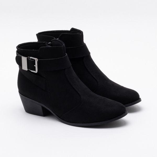 8436bc2dd8 Ankle Boot Bebecê Camurça Preta