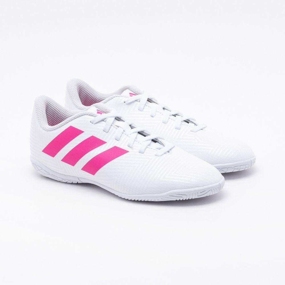 7ba4c3df76 Chuteira Futsal Adidas Infantil Nemeziz Tango 18.4 Branca Branco e ...