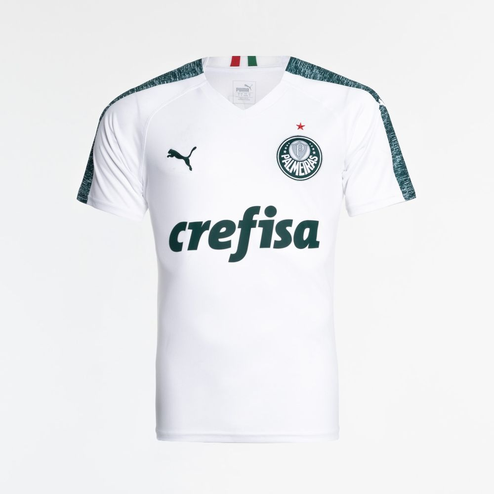 645a770d4011c Camisa Puma Palmeiras 2019/2020 II Sem Número Branca Masculina ...