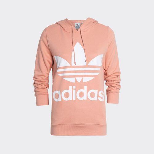 Blusão Adidas Trefoil Hodie Originals Salmão Feminino