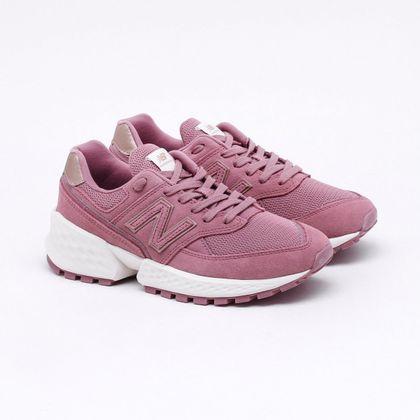 new balance 574 feminino cinza e rosa