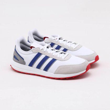 alarma chico idioma  Tênis Adidas Retro Runner Branco Masculino Branco e Azul - Gaston - Paqueta  Esportes