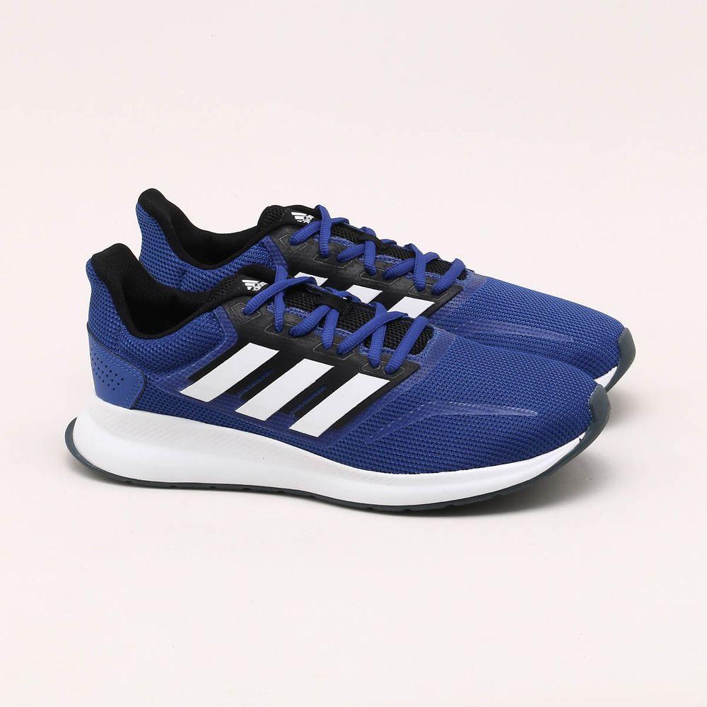Detenerse lona Seleccione  Tênis Adidas Run Falcon Azul Masculino Azul e Preto - Gaston - Gaston