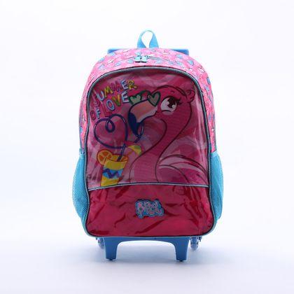 Mochila Clio Style Flamingo Azul - Úni...