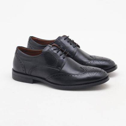 Sapato Social Spazzolato Oxford Preto Masculino